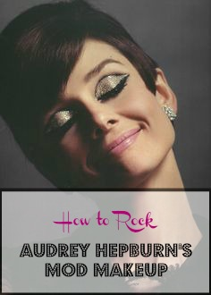 Steal Audrey Hepburn's makeup look with a few simple tools! Mod 1960s makeup at its best.