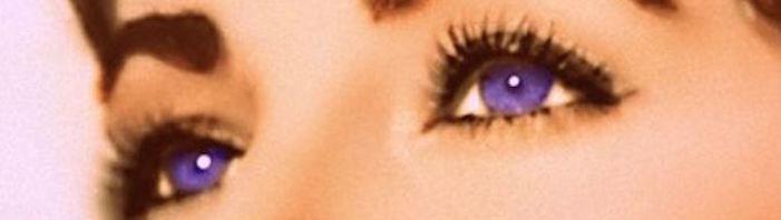 It's standard wisdom that Elizabeth Taylor's eyes were violet. Violet eyes? Really? Take a closer look at the windows to La Liz's soul...