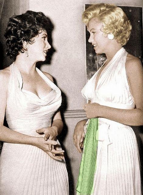 Marilyn Monroe and Elizabeth Taylor 2 - Classic Fashion Icons